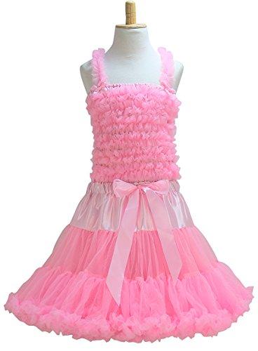 La Senorita Prinzessinnenkleid Elvira Deluxe - Rosa Weiß - Größe 5-7 (Elvira Deluxe Kostüme)