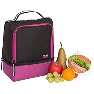 Polar Gear Active 2-Compartment Lunch Cooler, Raspberry