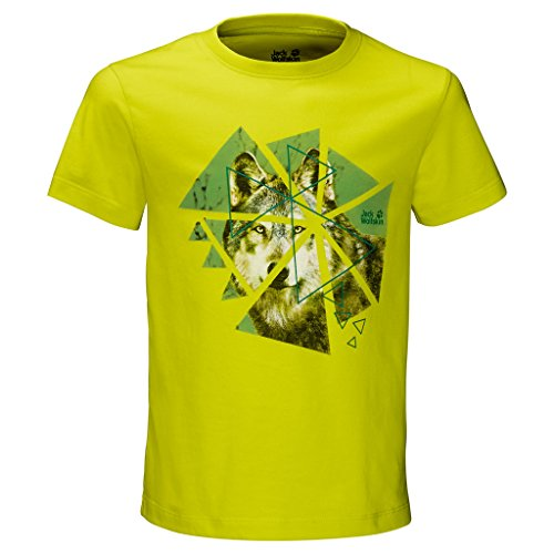 Jack Wolfskin Wolf-T-Shirt für Jungen 14 Jahre Flashing Green