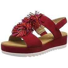 Gabor Shoes Women's Jollys Ankle Strap Sandals, Red (Rubin Kombi 15), 5 UK