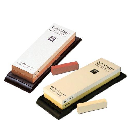 Schleifstein Set - Kasumi Damast Messer - Set