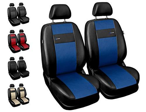 Coprisedili Auto Anteriori Copri-sedile con Airbag  Sistema X-Line - Blu