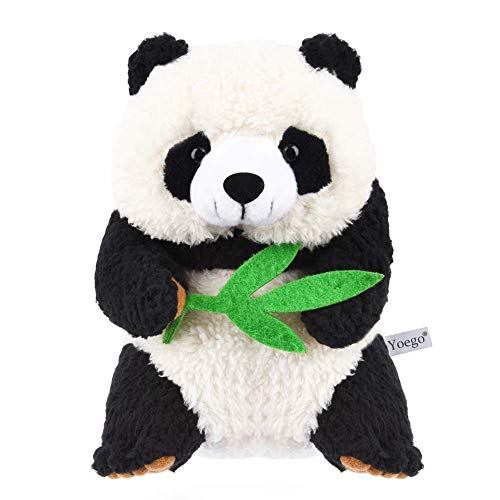 Yoego Cute Mimicry Pet Talking Panda Repeats What You Say Plush Animal Toy Electronic Panda Panda for Children/Toy Gifts Birthday Gifts Christmas Gift,4 x 7 inches