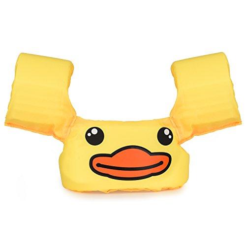RSPrime Kinder Baby Kleine Schwimmweste Rettungsweste Cartoon Schwimmende Geräte Sicherheits Schwimmhilfe Schwimmen Hilfe Verstellbar Jacke Weste Schwimmreifen Zubehör Kind Selbstständig Schwimmen Gelb - Babys Schwimmweste Für