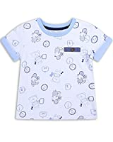 The Essential One - Baby Kids Boys - Bear Print T-Shirt - 2-3 Years - White - EOT220