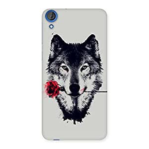 Stylish Rose Wolf Multicolor Back Case Cover for HTC Desire 820s