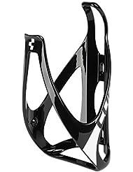 Cube 2015 - portabotella para bicicleta con forma de botella de brillante colores blanco y negro, talla única