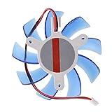 Kuehler Luefter - TOOGOO(R) 80mm 12V DC Kunststoff Mini Kuehler Luefter Blau