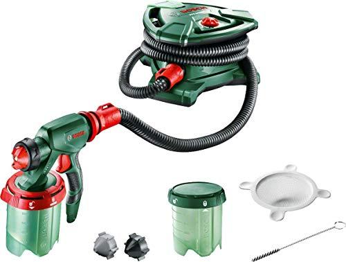 Pistolet à Peinture Bosch - PFS 5000 E (Livré avec 2 Godets de 1000ml, buse pour peinture murale / Lasures / Vernis , filtre à peinture, brosse de nettoyage, emballage carton)