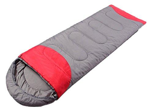 Honeystore Camping & Outdoor 210T Pongé Schlafsack-Deckenschlafsack (190+30)*75 CM Grau