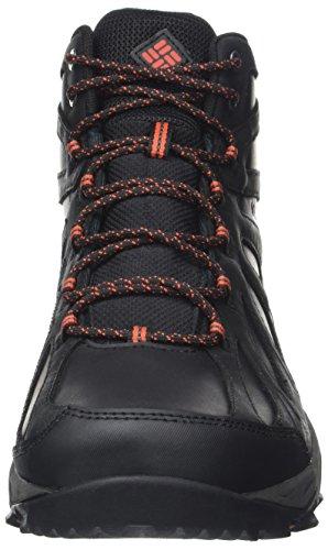 Columbia Peakfreak Xcrsn Ii Mid Leather Outdry, Chaussures de Randonnée Hautes Homme Noir (Black/ Supersonic)