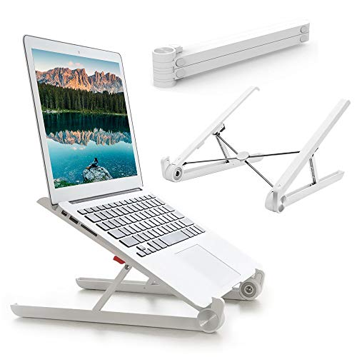 G-Color Support Ordinateur Portable Ventilé, 26-30° Réglable, Laptop Stand Pliable, Solid et Léger pour Laptop/Tablette/MacBook Air Pro/PC/iPad (10-15.6 Pouce) - Blanc