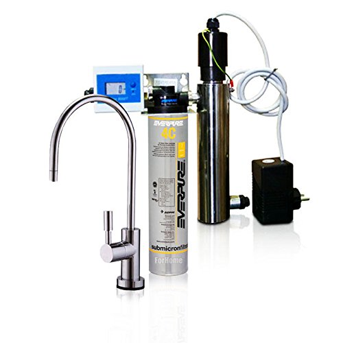 Wasserfilter System ForHome® EasyPure für die küche Mikrofiltrations Wasser Ultrafilter Anlage unter der Spüle Wasseraufbereiter mit UV-Lampe Wasserfilter Untertisch Everpure 4C