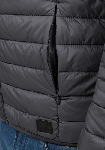 Blend Nils Herren Steppjacke Übergangsjacke Jacke Mit Stehkragen, Größe:S, Farbe:Ebony Grey (75111) - 5