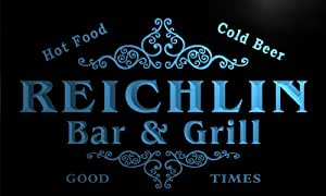 u37096-b REICHLIN Family Name Bar & Grill Home Brew Beer Neon Sign Enseigne Lumineuse