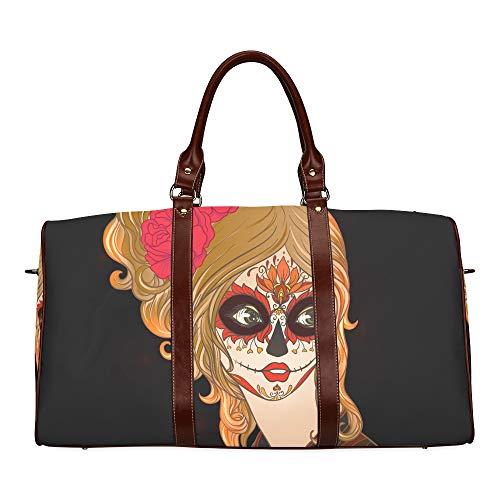 �t eines schönen Mädchens Tod wasserdichte Weekender Tasche über Nacht Carryon Handtasche Frauen Damen Einkaufstasche mit Mikrofaser Leder Gepäcktasche ()