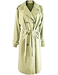 Ladies Beige Double Breasted Lined Coat
