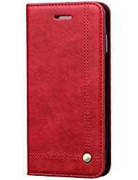 LaoZan Apple iPhone Étui Folio en Cuir PU, Cover Coque Porte Cartes avec Support, Flip Cover Housse De Protection