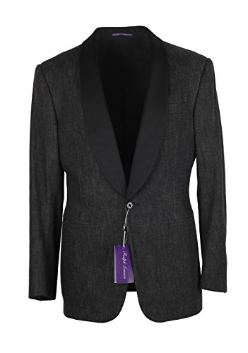 CL - Ralph Lauren Purple Label Charcoal Denim Tuxedo Size 50 / 40R U.S. In Cotton (Tuxedo Lauren)