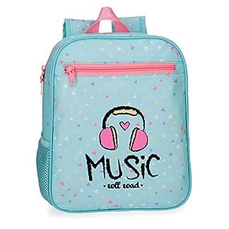 41sswwUzUzL. SS324  - Roll Road Music Mochila Infantil, 28 cm, 6.44 litros, Azul