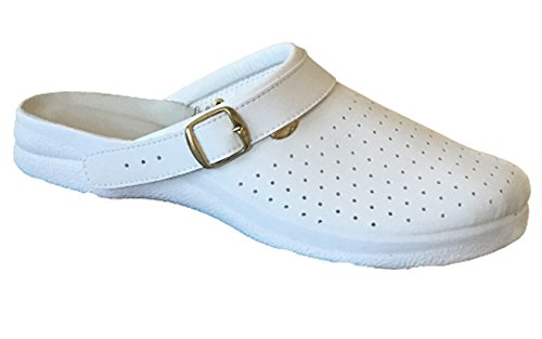 REPOSA unisex zueco Blanco Size: 43 8o4K7E