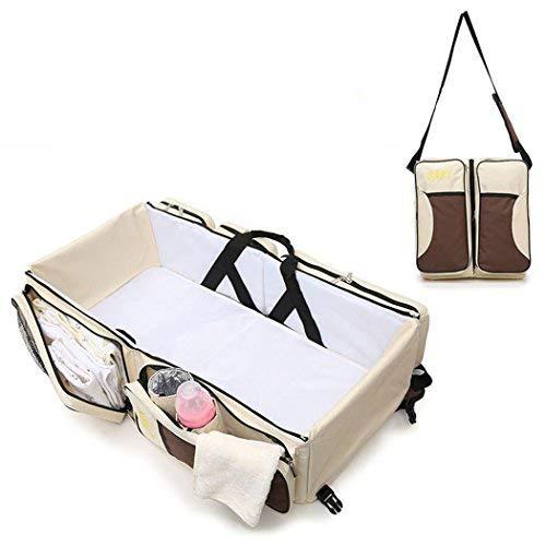 Multifunktionale Babykörbchen tragbare Babybett 3 in 1 Wickeltasche Wickeltasche Tragetasche einfach überall tragen