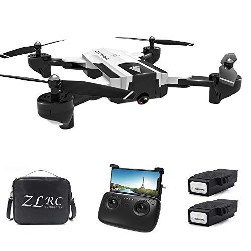 Leslaur SG900 RC Drohne mit Kamera 4K 22 Minuten Flugzeit RC Quadcopter Optischer Fluss Positionierung Geste Foto Video Bild Folgen Höhe Halten Drone 2 Batterie Handtasche
