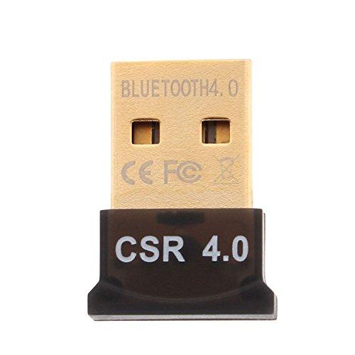 Aukru® USB Nano Bluetooth Adapter V4.0 Bluetooth 4.0 USB Adapter inkl. EDR mit LED | Plug & Play | für PC Windows XP / Vista / 7 / 8 /8.1 Bluetooth Stereo | kompatibel Bluetooth 2.1