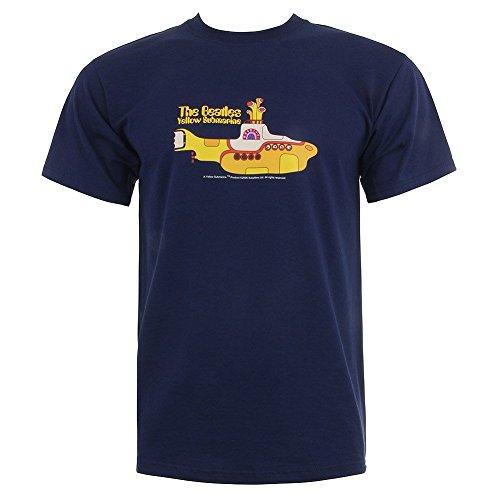 Spike Herren T-Shirt The Beatles Yellow Submarine, navyblau, Gr. XL - Beatles Short Sleeve T-shirt