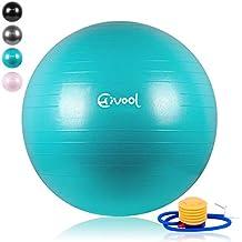 Hivool Pelota de Ejercicio para Fitness(55-85cm)syoga,bola natal y
