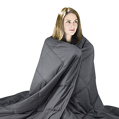 hblife Therapiedecke Gewichtsdecke Schwere Decke für Erwachsene/Jugendliche Für Besseren Schlaf(122 * 183 6.75kg)