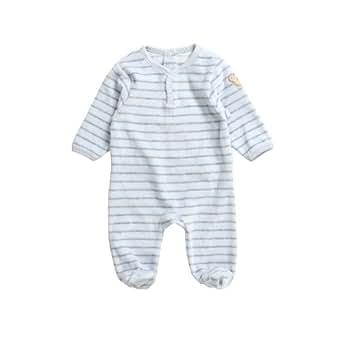 steiff baby jungen strampler gestreift 6242521 gr 50 blau 3023 bekleidung. Black Bedroom Furniture Sets. Home Design Ideas