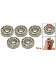 TOOGOO(R) 5 x roulements a billes a gorges profondes 8mm x 22mm x 7mm