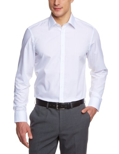 Venti Herren Businesshemd Slim Fit 001480/0, Gr. 40, Weiß (0 weiß)