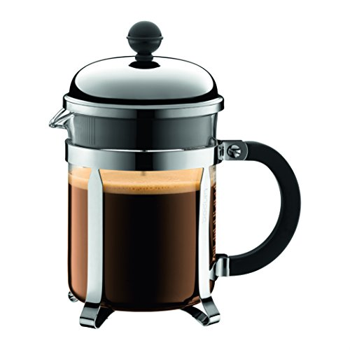 41sszP5P1aL. SS500  - BODUM Chambord 3 Cup French Press Coffee Maker, Chrome, 0.35 l, 12 oz