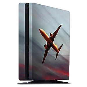 DeinDesign Skin kompatibel mit Sony Playstation 4 Slim Aufkleber Folie Sticker Flugzeug Fliegen Airplane