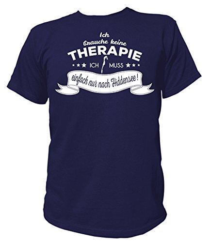 Artdiktat Herren T-Shirt Ich brauche keine Therapie - Ich muss einfach nur nach Hiddensee Navy
