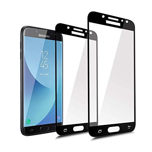 ykooe Galaxy J7 DUOS Schutzfolie, (2 Stück) Panzerglas Samsung Galaxy J7 2017 Displayschutzfolie Anti-Fingerabdruck Full Coverage Screen Protector Folie für Samsung Galaxy J7 2017 / DUOS