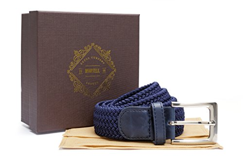 london-goods-company-1984-ceinture-tressee-collection-martell-qualite-superieure-avec-pochette-de-pr