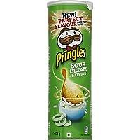 Pringles Biscuits apéritif Sour Cream & Onion La boite de 175g - Prix Unitaire - Livraison Gratuit Sous 3 Jours