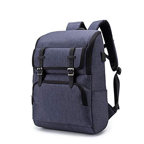 QIAN Business-Rucksack Vintage Rucksack Freizeitrucksack -USB-Schnittstelle Hochwertiges Oxford-Material Hoher Kapazität - Geeignet zum Einkaufen, für die Tägliche Arbeit, für Reisen usw,Blue Adidas Oxford