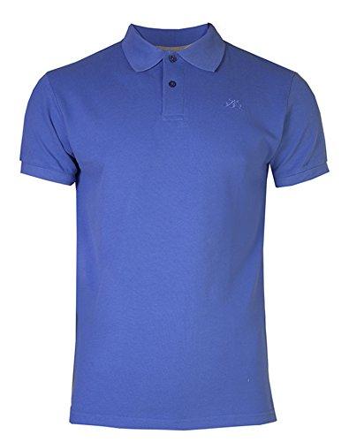 Brody & Co. Herren Poloshirt, Einfarbig Blau Blau Blau - Blau