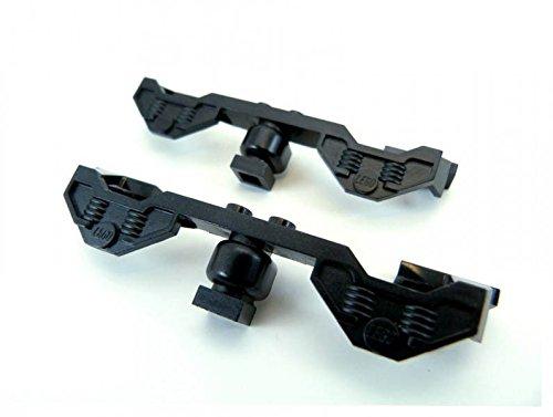 2 x Lego Lok Seitenverkleidung schwarz Seitenteile Waggon Zug 9 V Train...