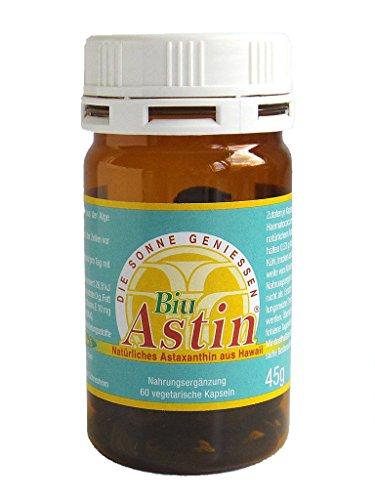 Astaxanthin - versandkostenfrei - BiuAstin 60 vegetarische Kapseln 4 mg natürliches Astaxanthin - Das Original Ivarssons BiuAstin