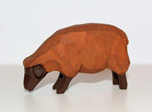 Preisvergleich Produktbild Lotte Sievers-Hahn Krippenfiguren * Schaf braun fressend im Baumwollbeutel * 1531