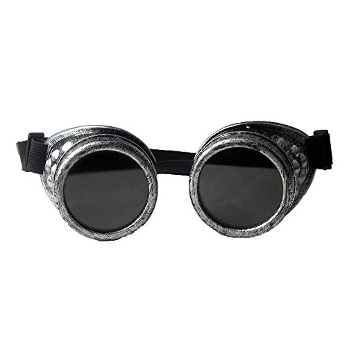 BovoYa Metall Motorrad Brille Steampunk Brille Punk Stil Schweißen Cosplay Brille für Foto-Requisite Steampunk-Hochzeiten