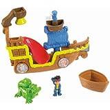 Mattel Fisher-Price X4987 - Jake und die Nimmerland Piraten Wasserspaß Badespielzeug