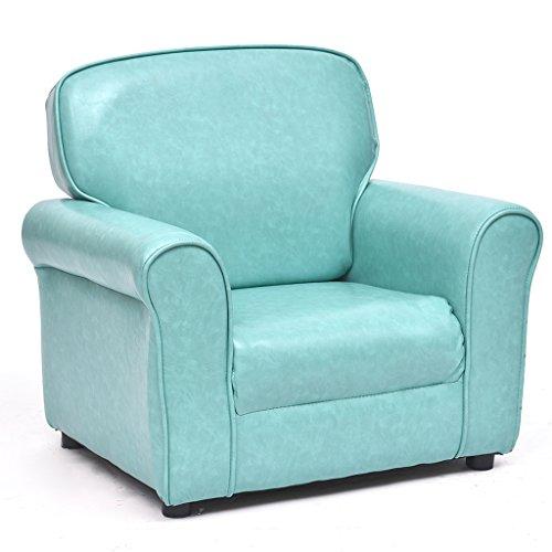 Esszimmerstühle Kinderpu-Ledersofa für Schlafzimmer, volle Installation, Recliner-Wohnzimmer-Stuhl mit Armlehne und Rückenlehne (Farbe : Blau)
