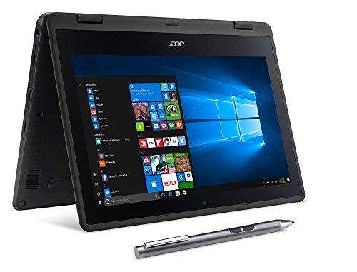 Acer Laptop Computer SP111-31N-C4UG 11.6-inch 2 in 1 Laptop (Celeron N3350/4GB DDR3L/32GB/Windows 10) Black