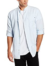 JACK & JONES VINTAGE Jjvrupert Shirt L/S China Collar, Blusa para Hombre